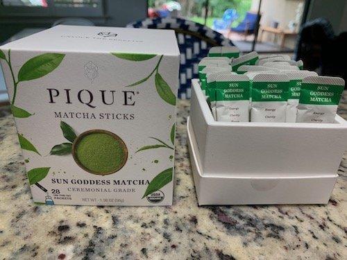 Pique Sun Goddess Matcha Packaging